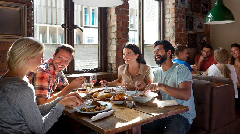 Friends Enjoying a Meal